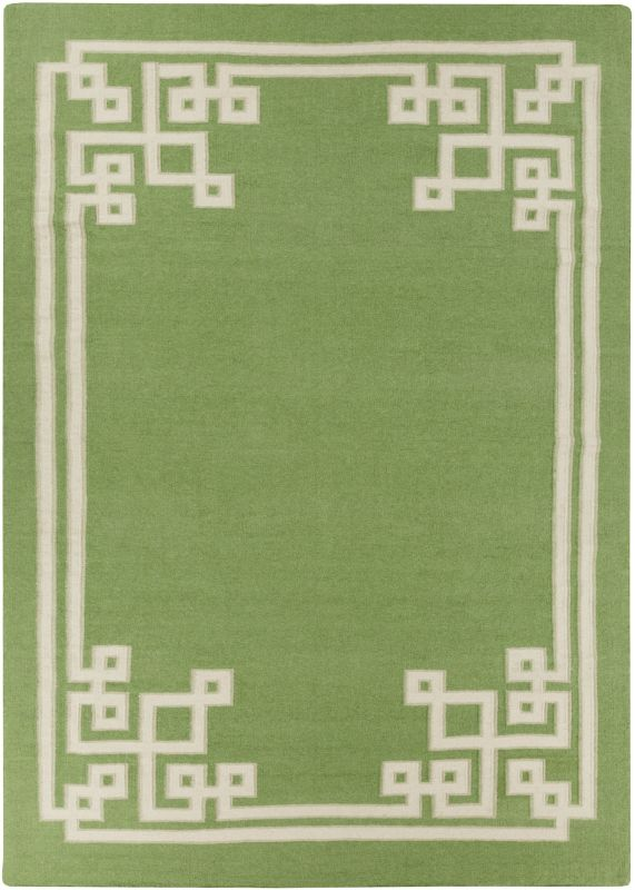 Surya AMD-1013 Alameda Hand Woven Wool Rug Green 8 x 11 Home Decor