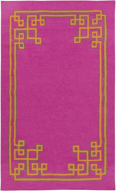 Surya AMD-1014 Alameda Hand Woven Wool Rug Pink 5 x 8 Home Decor Rugs