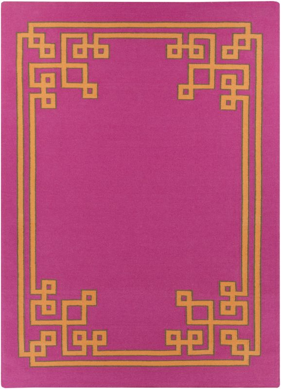 Surya AMD-1014 Alameda Hand Woven Wool Rug Pink 8 x 11 Home Decor Rugs