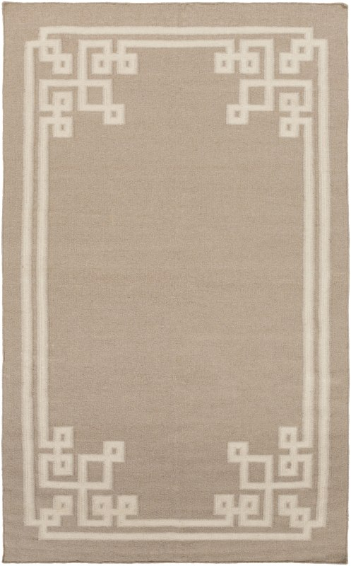 Surya AMD-1015 Alameda Hand Woven Wool Rug Off-White 5 x 8 Home Decor