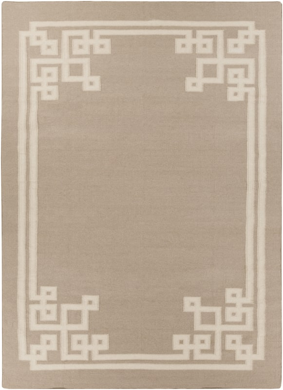 Surya AMD-1015 Alameda Hand Woven Wool Rug Off-White 8 x 11 Home Decor