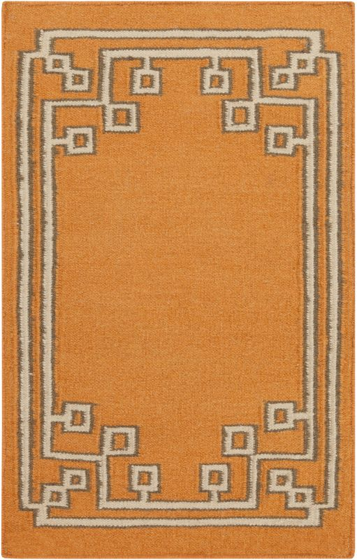 Surya AMD-1016 Alameda Hand Woven Wool Rug Orange 2 x 3 Home Decor