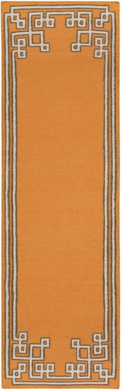 Surya AMD-1016 Alameda Hand Woven Wool Rug Orange 2 1/2 x 8 Home Decor