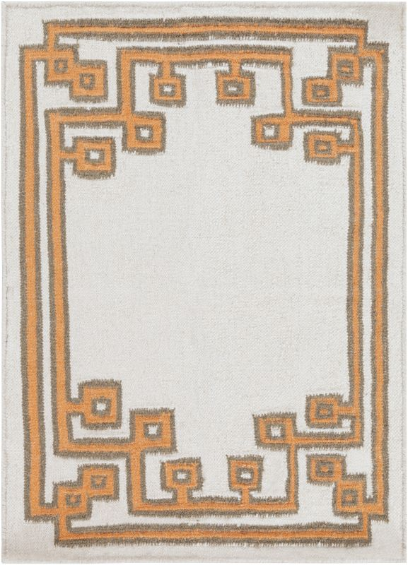 Surya AMD-1018 Alameda Hand Woven Wool Rug Orange 2 x 3 Home Decor