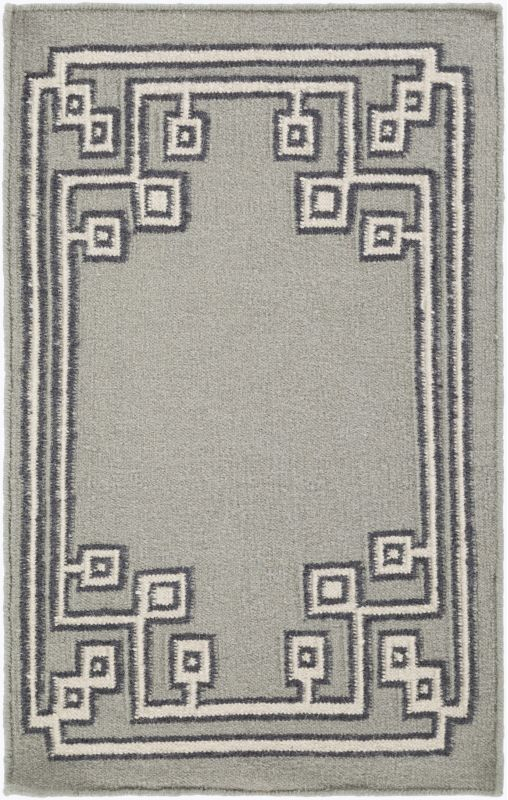 Surya AMD-1019 Alameda Hand Woven Wool Rug Gray 3 x 5 Home Decor Rugs