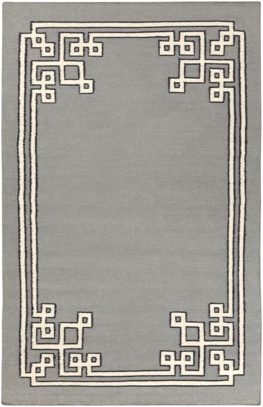 Surya AMD-1019 Alameda Hand Woven Wool Rug Gray 5 x 8 Home Decor Rugs