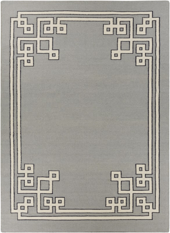 Surya AMD-1019 Alameda Hand Woven Wool Rug Gray 8 x 11 Home Decor Rugs