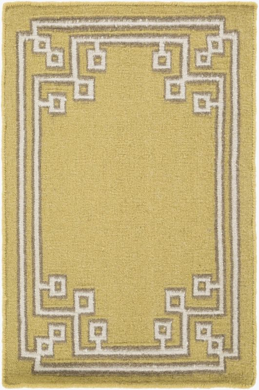 Surya AMD-1021 Alameda Hand Woven Wool Rug Green 3 x 5 Home Decor Rugs