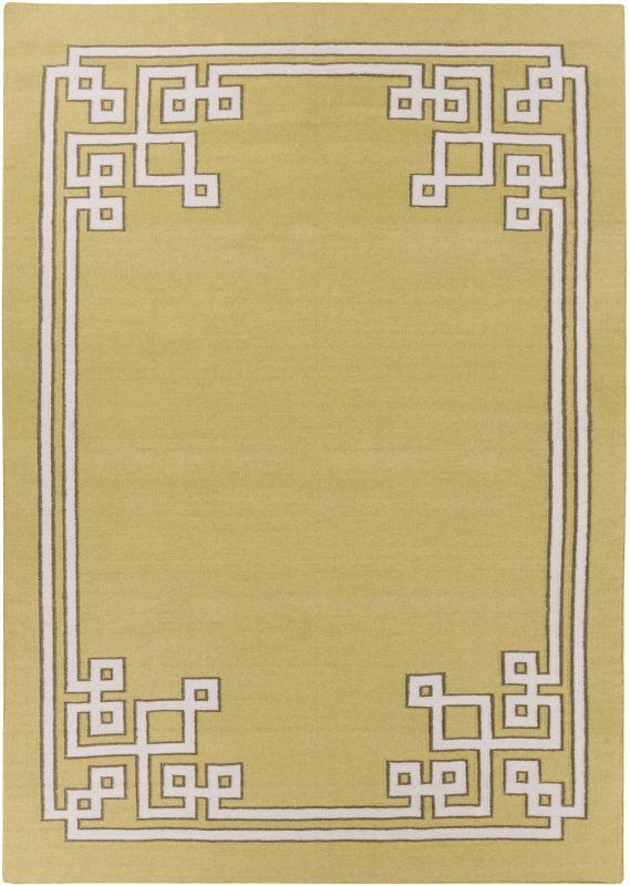 Surya AMD-1021 Alameda Hand Woven Wool Rug Green 8 x 11 Home Decor