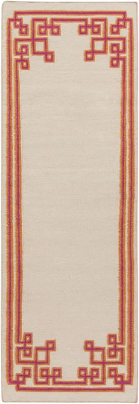 Surya AMD-1022 Alameda Hand Woven Wool Rug Pink 2 1/2 x 8 Home Decor