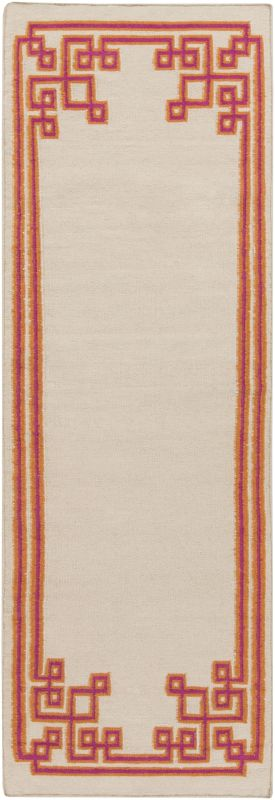 Surya AMD-1022 Alameda Hand Woven Wool Rug Pink 3 x 5 Home Decor Rugs