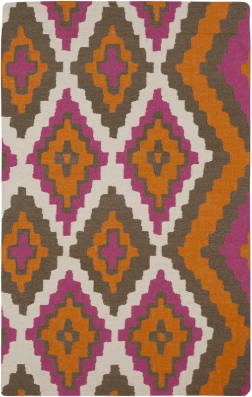 Surya AMD-1028 Alameda Hand Woven Wool Rug Orange 2 x 3 Home Decor