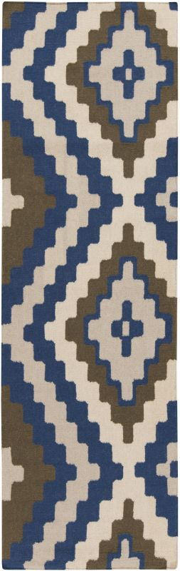 Surya AMD-1047 Alameda Hand Woven Wool Rug Blue 2 1/2 x 8 Home Decor