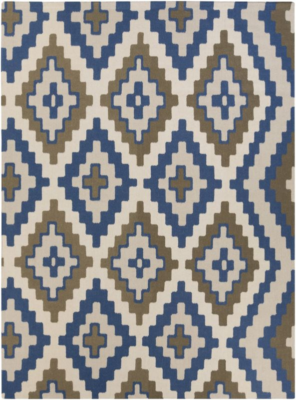 Surya AMD-1047 Alameda Hand Woven Wool Rug Blue 8 x 11 Home Decor Rugs
