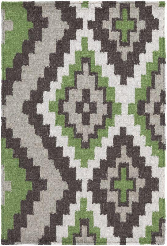 Surya AMD-1048 Alameda Hand Woven Wool Rug Green 2 x 3 Home Decor Rugs