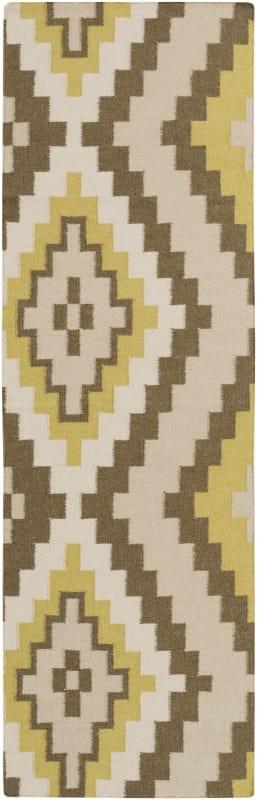 Surya AMD-1049 Alameda Hand Woven Wool Rug Green 2 1/2 x 8 Home Decor