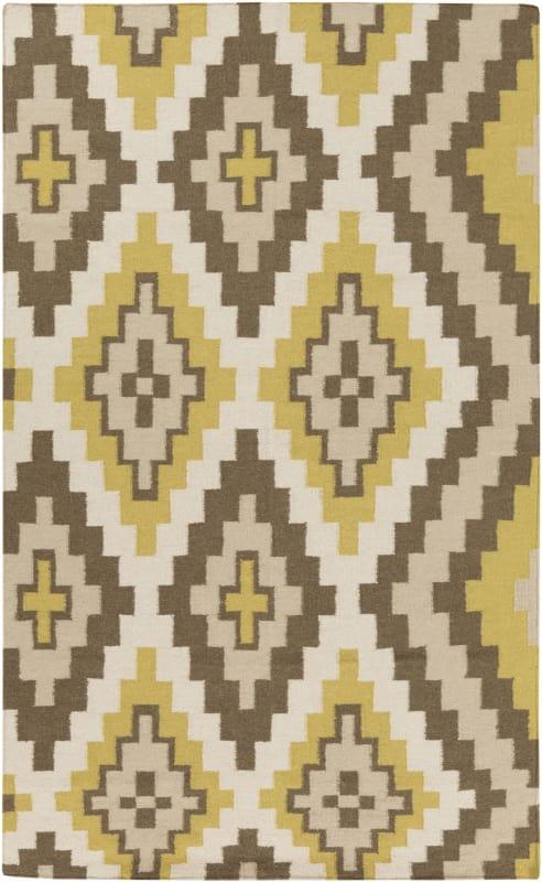 Surya AMD-1049 Alameda Hand Woven Wool Rug Green 8 x 11 Home Decor