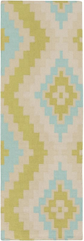 Surya AMD-1050 Alameda Hand Woven Wool Rug Green 2 1/2 x 8 Home Decor