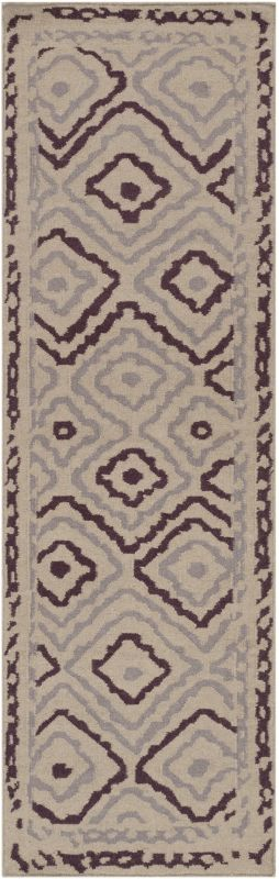 Surya AMD-1055 Alameda Hand Woven Wool Rug Pink 2 1/2 x 8 Home Decor