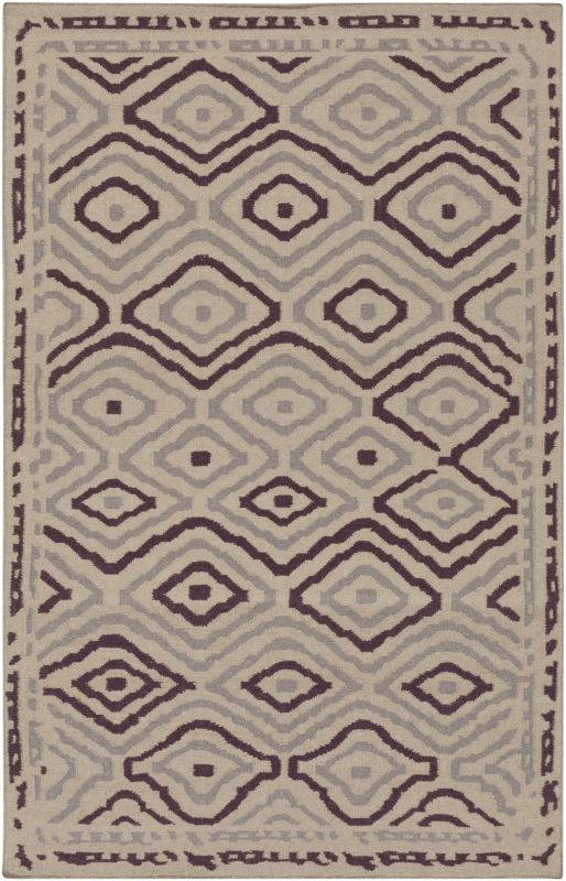 Surya AMD-1055 Alameda Hand Woven Wool Rug Pink 8 x 11 Home Decor Rugs