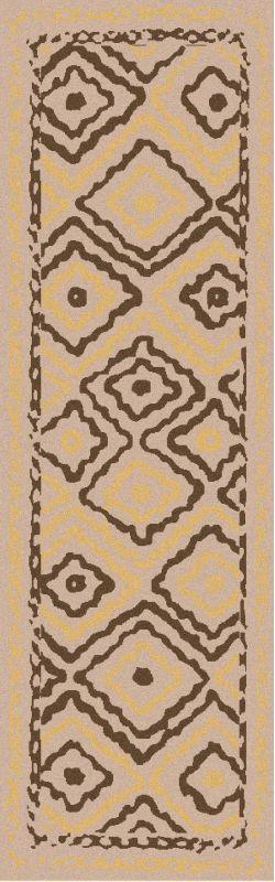 Surya AMD-1056 Alameda Hand Woven Wool Rug Brown 2 1/2 x 8 Home Decor