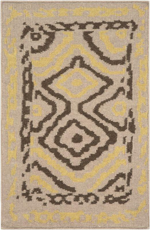 Surya AMD-1056 Alameda Hand Woven Wool Rug Brown 3 x 5 Home Decor Rugs