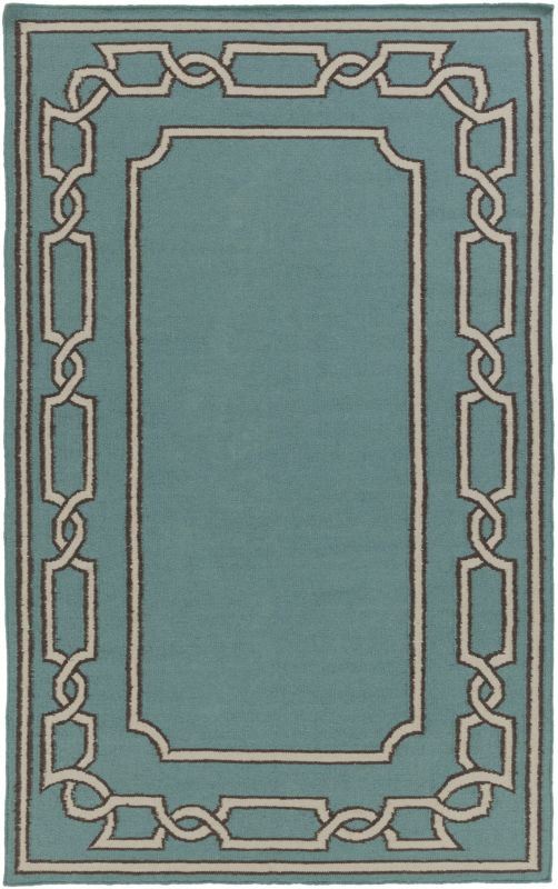 Surya AMD-1057 Alameda Hand Woven Wool Rug Blue 2 x 3 Home Decor Rugs