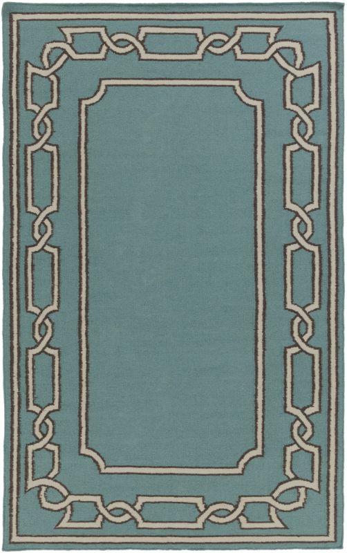 Surya AMD-1057 Alameda Hand Woven Wool Rug Blue 8 x 11 Home Decor Rugs