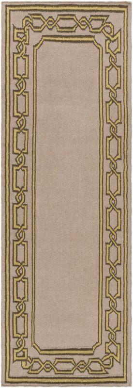 Surya AMD-1058 Alameda Hand Woven Wool Rug Brown 2 1/2 x 8 Home Decor
