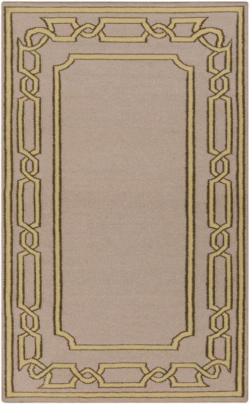 Surya AMD-1058 Alameda Hand Woven Wool Rug Brown 8 x 11 Home Decor
