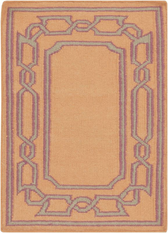 Surya AMD-1059 Alameda Hand Woven Wool Rug Orange 8 x 11 Home Decor