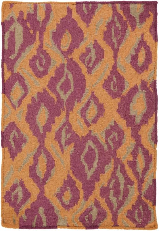 Surya AMD-1060 Alameda Hand Woven Wool Rug Orange 3 x 5 Home Decor
