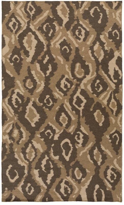 Surya AMD-1061 Alameda Hand Woven Wool Rug Brown 3 x 5 Home Decor Rugs