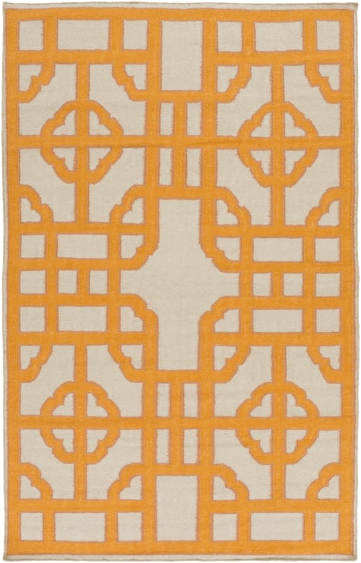 Surya AMD-1067 Alameda Hand Woven Wool Rug Orange 5 x 8 Home Decor