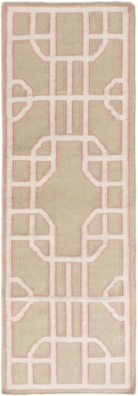 Surya AMD-1068 Alameda Hand Woven Wool Rug Pink 8 x 11 Home Decor Rugs