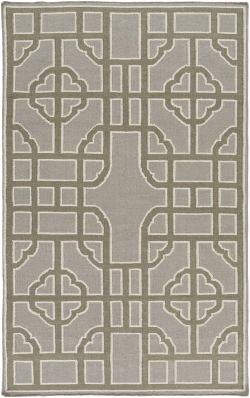 Surya AMD-1069 Alameda Hand Woven Wool Rug Gray 5 x 8 Home Decor Rugs