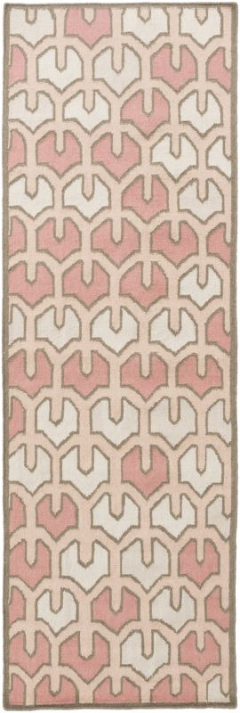 Surya AMD-1072 Alameda Hand Woven Wool Rug Pink 2 1/2 x 8 Home Decor