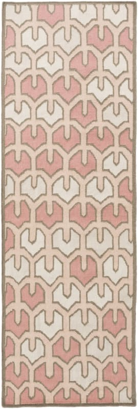 Surya AMD-1072 Alameda Hand Woven Wool Rug Pink 3 x 5 Home Decor Rugs
