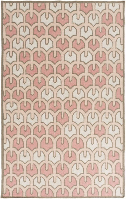 Surya AMD-1072 Alameda Hand Woven Wool Rug Pink 5 x 8 Home Decor Rugs