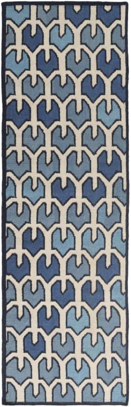 Surya AMD-1074 Alameda Hand Woven Wool Rug Blue 8 x 11 Home Decor Rugs