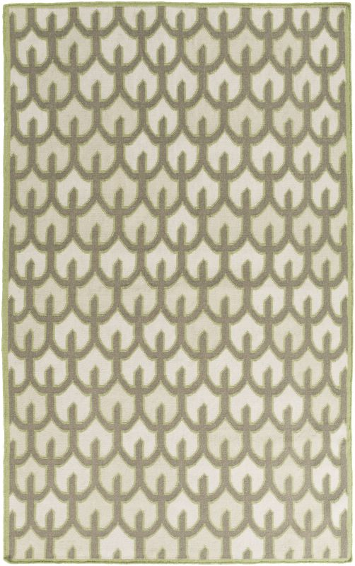 Surya AMD-1076 Alameda Hand Woven Wool Rug Green 5 x 8 Home Decor Rugs