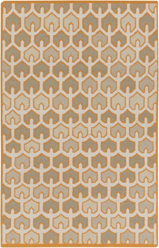 Surya AMD-1077 Alameda Hand Woven Wool Rug Orange 5 x 8 Home Decor