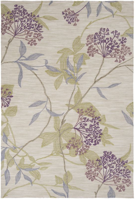 Surya AME-2224 Ameila Hand Tufted Polyester Rug Purple 5 x 7 1/2 Home