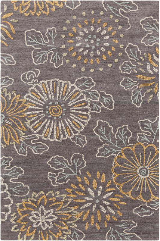 Surya AME-2230 Ameila Hand Tufted Polyester Rug Gray 5 x 7 1/2 Home
