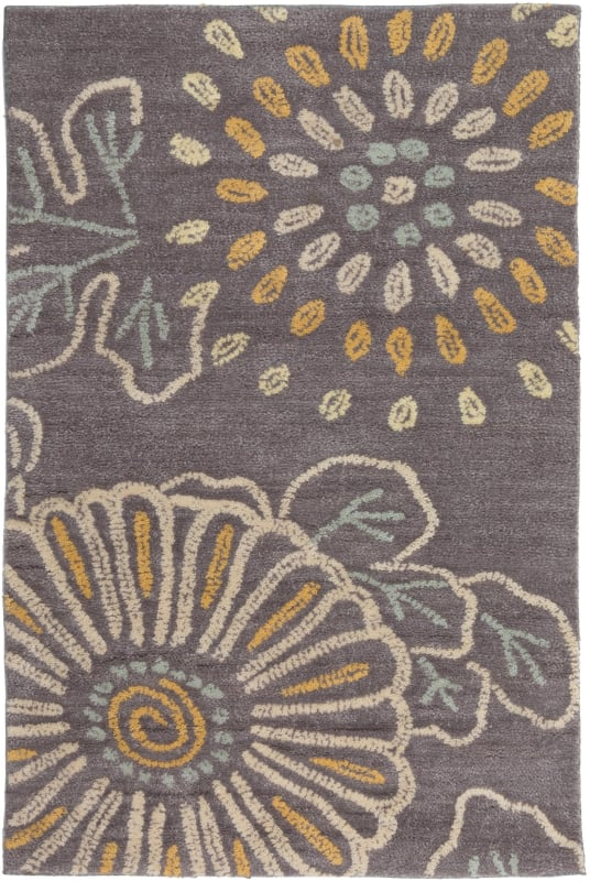 Surya AME-2230 Ameila Hand Tufted Polyester Rug Gray 8 x 11 Home Decor