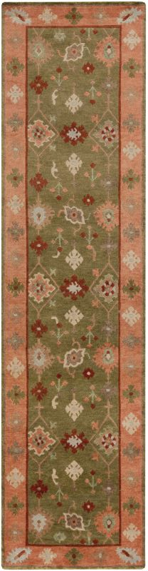 Surya ANA-8409 Anastacia Hand Knotted New Zealand Wool Rug Green 2 1/2