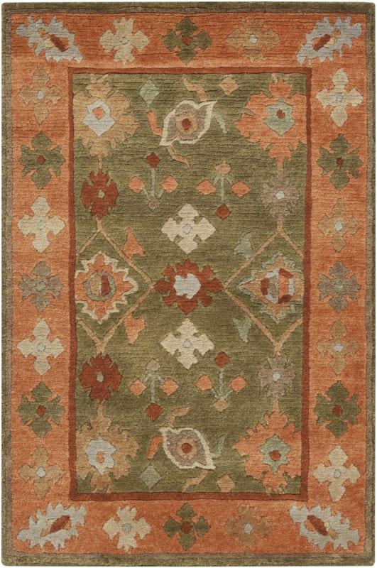 Surya ANA-8409 Anastacia Hand Knotted New Zealand Wool Rug Green 9 x