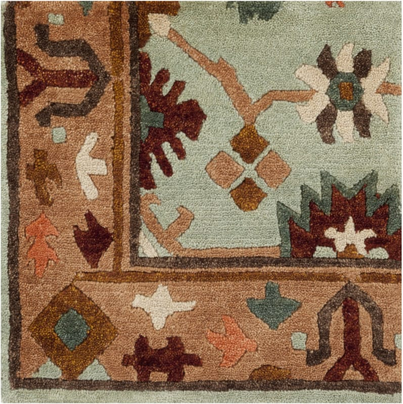 Surya ANA-8410 Anastacia Hand Knotted New Zealand Wool Rug Green 2 x 3 Sale $252.00 ITEM: bci2657739 ID#:ANA8410-23 UPC: 764262907438 :