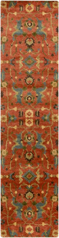 Surya ANA-8411 Anastacia Hand Knotted New Zealand Wool Rug Orange 2