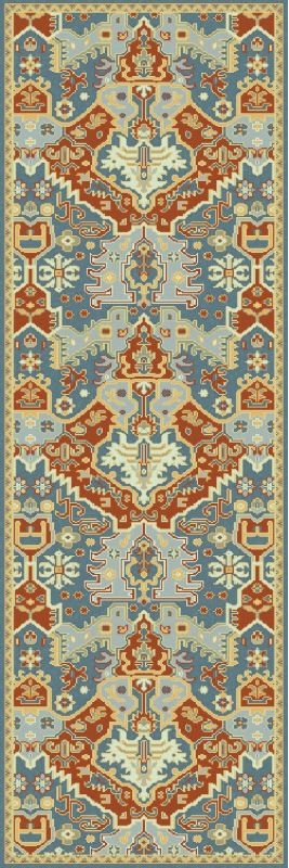 Surya ANT-9712 Antolya Hand Knotted New Zealand Wool Rug Blue 3 1/2 x